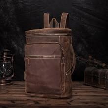 New Original Leather Large Capacity Design Men Travel Casual Backpack Daypack Rucksack Fashion