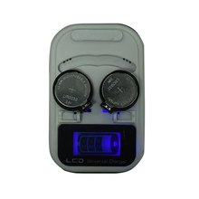 3.6V Rechargeable Lithium Button Cell Coin Battery US Plug 2 Slot Charger LCD Indicator intelligent Charger LIR2032/2025 /2016