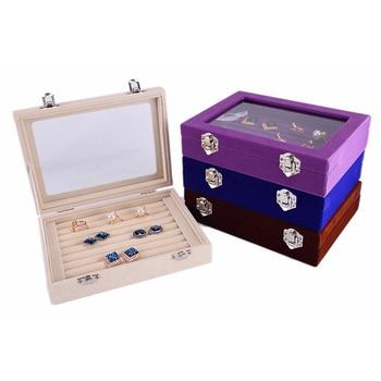 20CM Flannel jewelry Box jewellery Accessories Boxes organizer earring storage joyeros organizador de joyas Ring D20