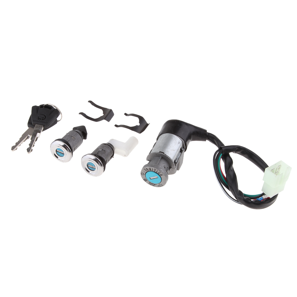 Motorcycle Ignition Key Switch Assembly For Honda CH125 With 2 Keys