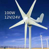 100W 12/24V 3/5 Blades Small Wind Turbine Generator Lantern Motor Kit Vertical Axis Wind Generator Kits
