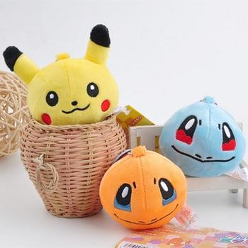 8cm Kawaii NEW Yellow Duck Models Stuffed Animals Key chain pokemons Plush Toys Dolls