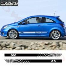 Sport de course rayures voiture porte côté jupe autocollant Auto carrosserie vinyle décalcomanies pour Opel OPC accessoires extérieurs