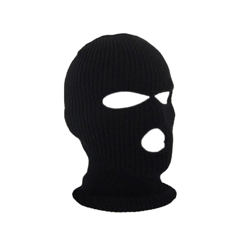 1pc Black Solid Winter Warm Balaclava Face Mouth Mask Man Women Unisex Outdoor Cycling Winter Mask Black Mask Mouth Head Cover