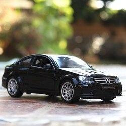1:32 aluminiowy Model samochodu mercedes/s-Benz c63 metalowa zabawka pojazdu dźwięk światło samochód z napędem Pull Back dla dzieci samochodzik dla dziecka chłopiec prezent kolekcja