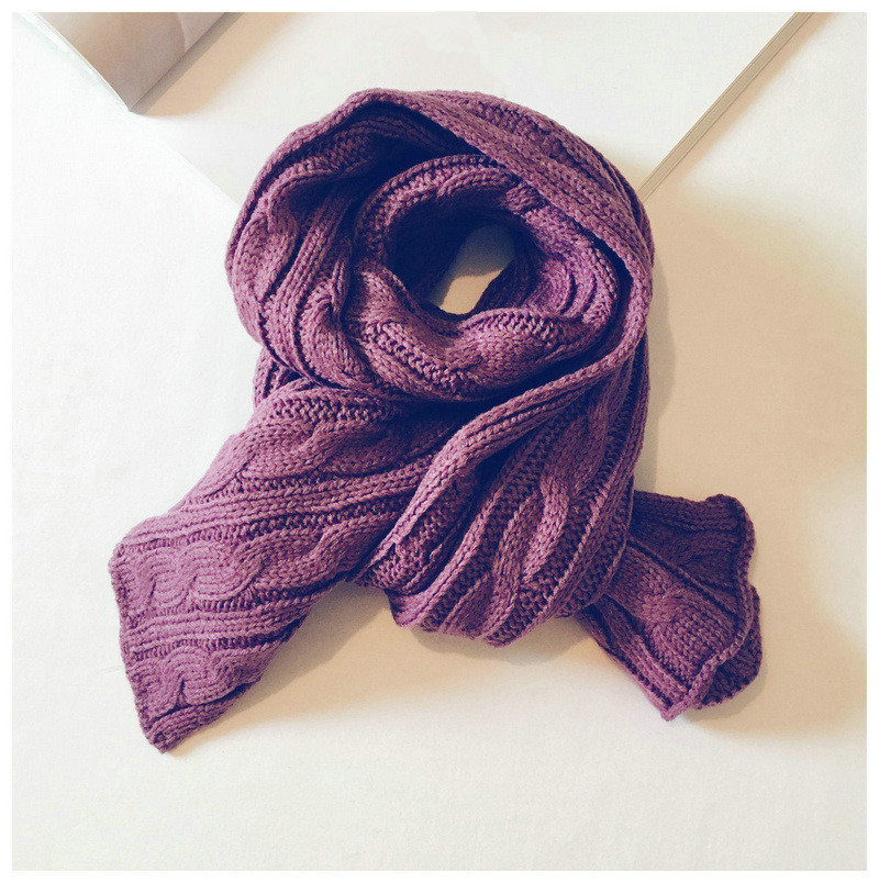 Autumn And Winter Knitted Children's Scarf Fashion Joker Korean Style Solid Color Ring Scarf For Boy And Girl 26