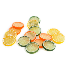 10PCS 5cm Mini Artificial Fruit Lifelike Model Simulation Foam Lemon Slice Resin Fake For Party Kitchen Wedding Decoration