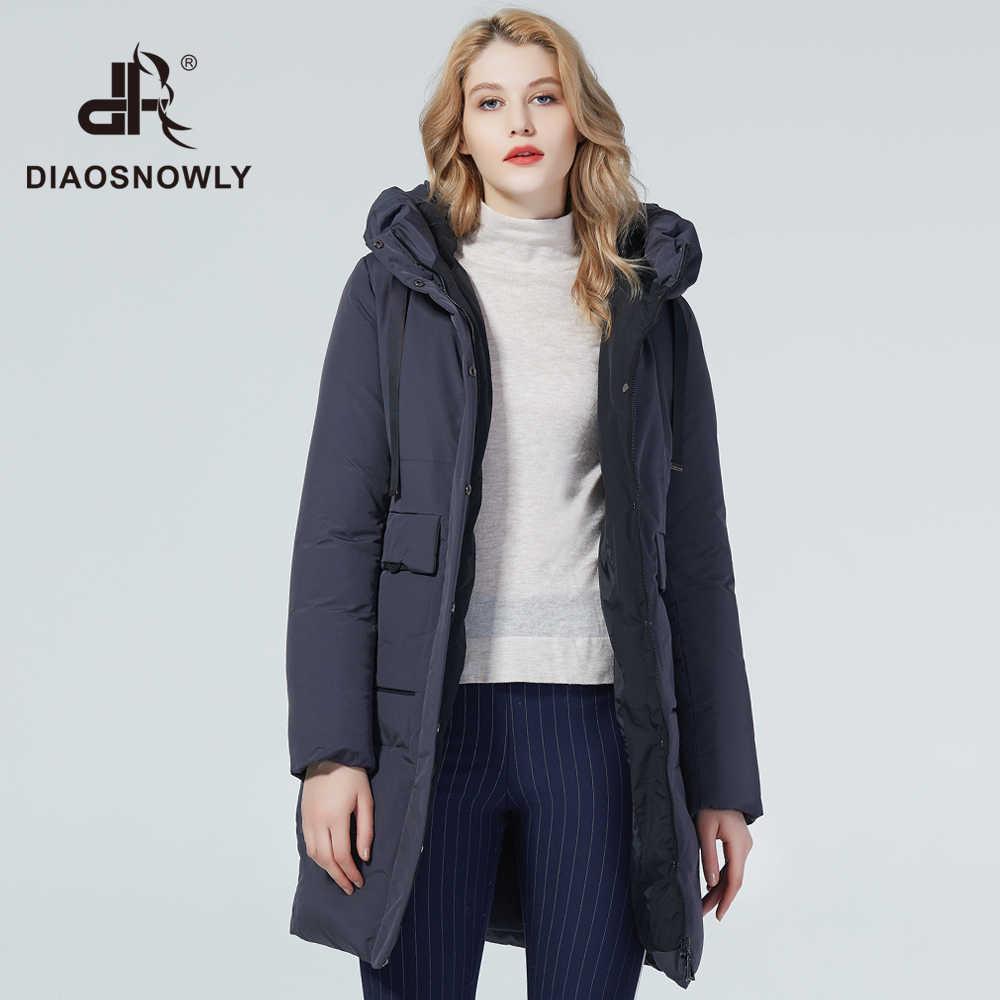 Diaosnowly 2020 여성을위한 새로운 겨울 코트 따뜻한 패션 여성 자켓 긴 여성 여성을위한 고품질의 브랜드 자켓과 파카 겨울 의류 outwear coat women long