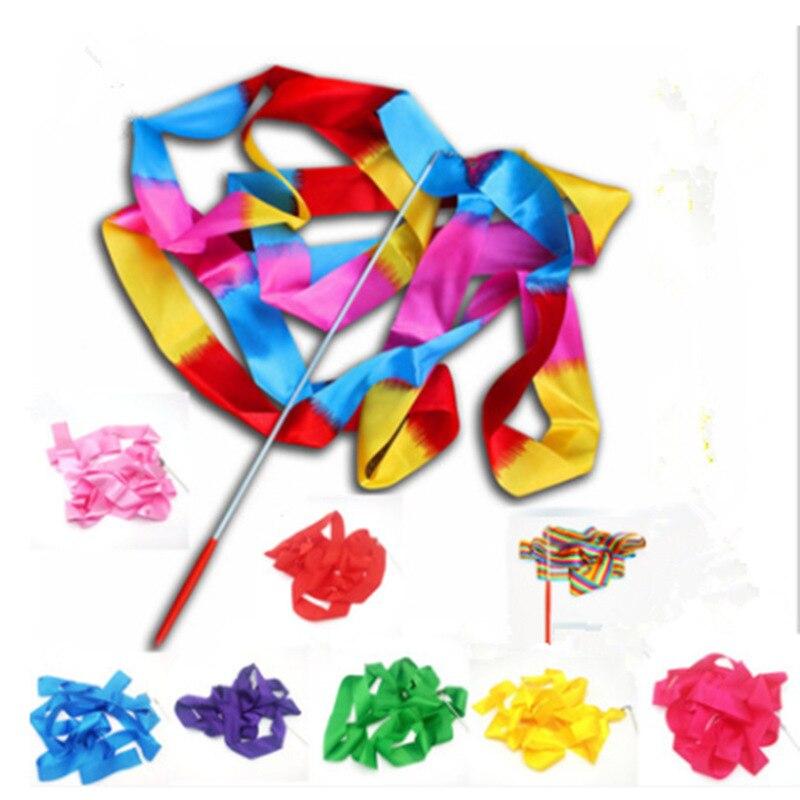4 M Art Gymnastics Ribbon Profession Dance Performance Props Art Healthy Beauty Ribbon CHILDREN'S Toy Ribbon Wholesale