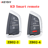 Universal ZB02 3 ZB02 4 KD Smart Key Remote for KD X2 KD900 URG200 Mini KD Car Key Remote Replacement Fit More than 2000 Models