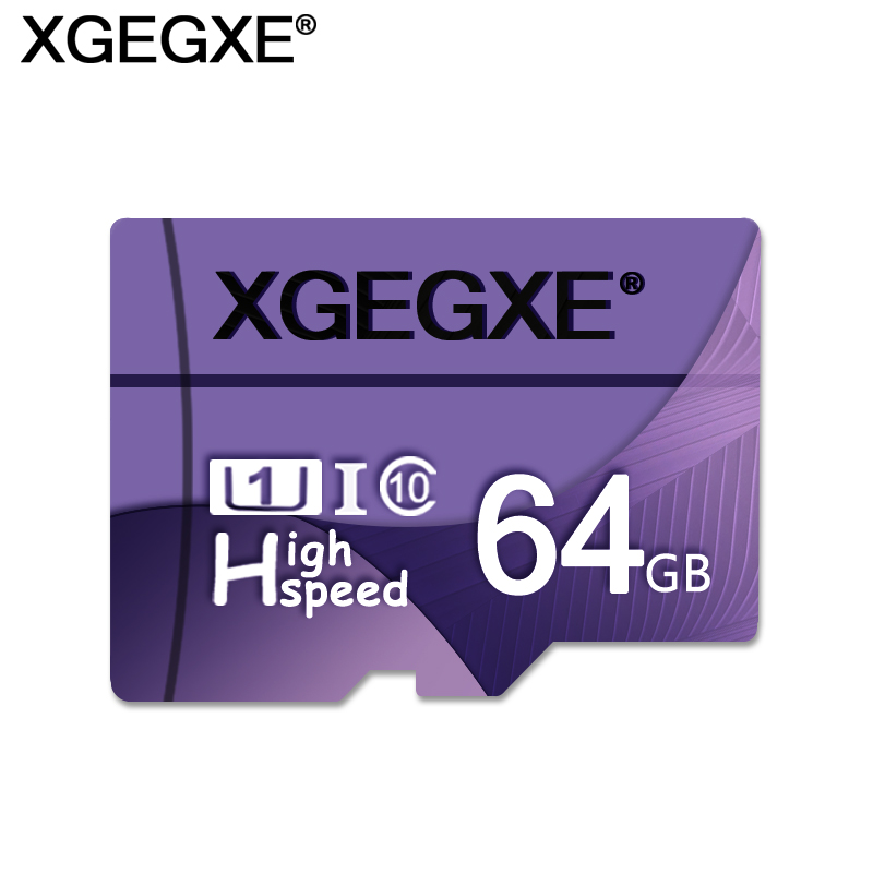 XGEGXE Memory Card 64GB High Speed T Flash Card 32GB 16GB 8GB Class 10 U1 UHS-I TF Card For Phone Camera PC