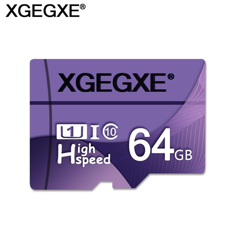 XGEGXE Memory Card 64GB High Speed T Flash Card 32GB 16GB 8GB Class 10 U1 UHS-I TF Card For Phone Camera PC