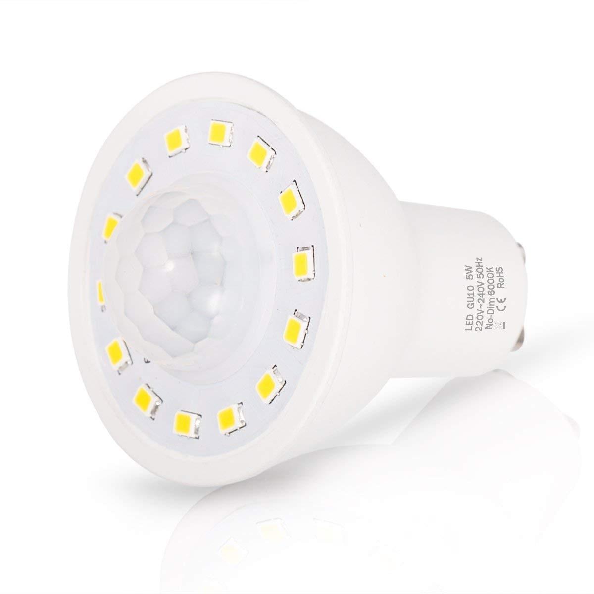 Image 2 - GU10 PIR Motion Sensor LED Light Bulbs 5W,50W Equivalent 500lm Day White 6000K for Stairs Garage Corridor Walkway Hallway 2Pack-in LED Bulbs & Tubes from Lights & Lighting