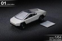 ** В наличии ** Xcartoys 1:64 Тесла Cybertruck грузовик 01 Серебряный литья под давлением модель автомобиля