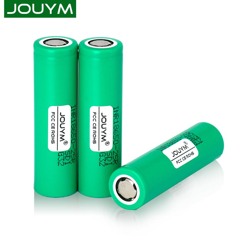 JOUYM 25R Original 18650 2500mah INR18650 25R 20A High Power Discharge Rechargeable Battery for Power Tool Battery Replacement