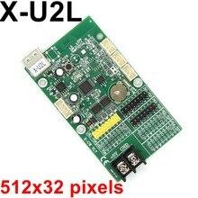X-U2L USB светодиодный блок управления 512*32 пикселей u-диск светодиодный блок управления для монохромного/двухцветного модуля P10, f3.75, f5.0