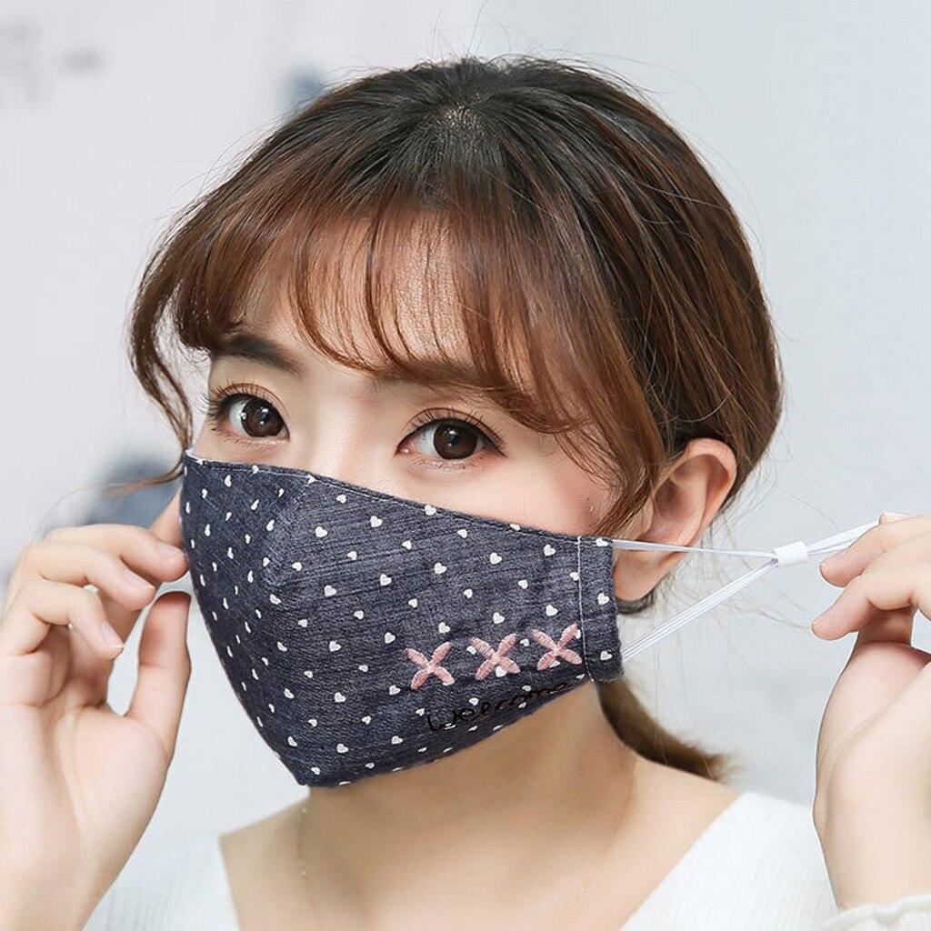 Мужская и женская моющаяся маска для взрослых, маска для защиты от пыли, Антивирусная взрослая хлопковая маска с буквенным принтом для мальчиков и девочек, дышащая маска|Женские маски|   | АлиЭкспресс