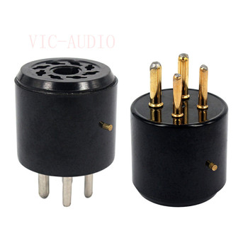2PCS Bakelite Tube Socket 4 pins tube socket GZS4-S8 For KT88 GZ34 6550 EL34 Vacuum Tube Amplifier HIFI DIY 4pins to 8pins image
