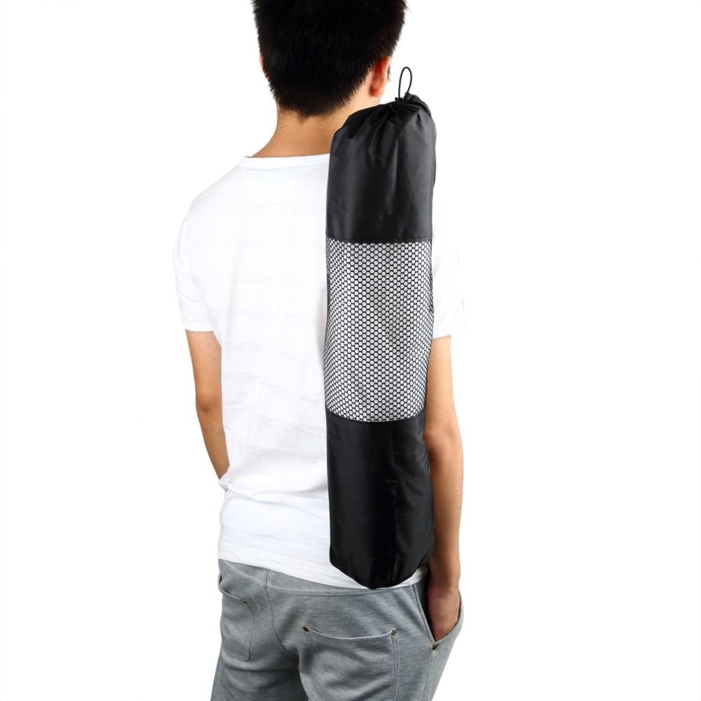 1 Pcs Nylon Yoga Exercise Fitness Mat Pilates Mat Carrier Bag Mesh Center Adjustable Strap Case Portable Bag