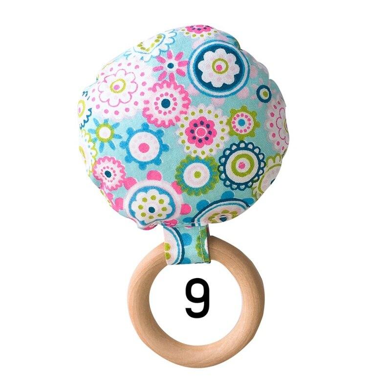 Новорожденный ребенок прорезыватель кольцо Жевательная Прорезыватель портативный ручной безопасная, из дерева натуральное кольцо детские зубы упражняющая игрушка подарок - Цвет: I