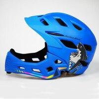 Rosto cheio capacete para crianças 4 cores disponíveis peso leve capacete da bicicleta da criança crianças para 3-6 anos acessórios para bicicletas