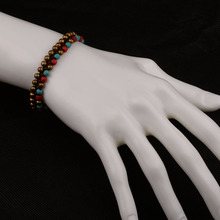 MYTHIC AGE Bohemian Colorful Stone Charm Ethnic Bracelets for Women Hand Braided Wristband Bohe Jewelry Girl