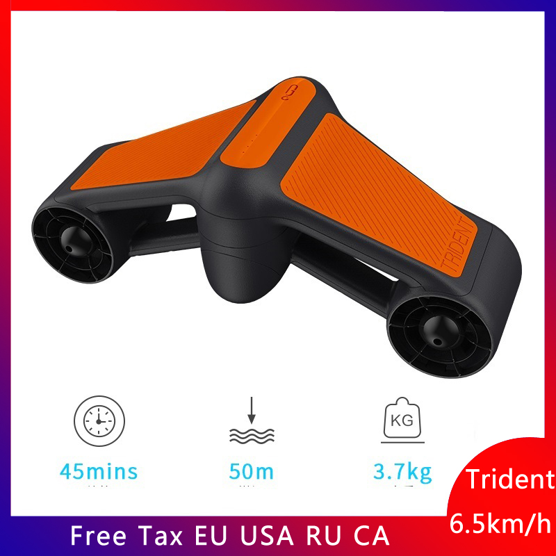 New Trident Waterproof Underwater Scooter Electric Thruster Scooter Two Speed Propeller Diving Pool Hand-held Diving Equipment