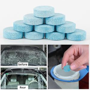 20/100pcs Car Solid Wiper Effervescent Tablet Cleaner Auto Windshield Glass Windows Cleaning Tool Windshield Cleaner TSLM1