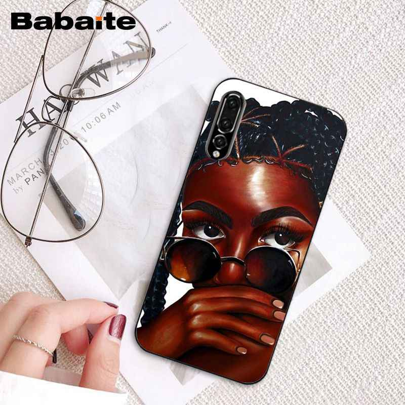 Babaite afrykańskie piękno Afro Puffs melanin poppin czarna dziewczyna etui na telefony dla Huawei P20 P30 P20 pro P20 lite P30 lite P inteligentne p10 lite