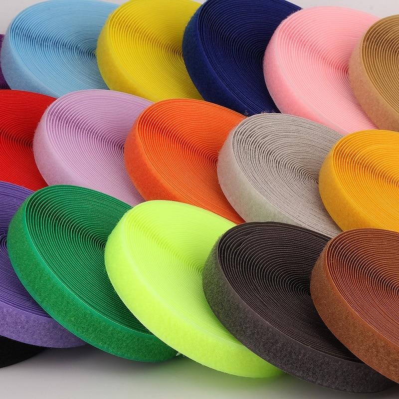 Magic Tape No Adhesive Fastener Diy Polyester Nylon Hook Loop Tape Colors Stick Tape Klittenbandsluiting Tape No Glue 2cm*1m Latest Technology