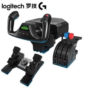 Image 1 - Logitech Sistema de yugo de vuelo Logitech G Saitek PRO, simulador de vuelo, sistema de acelerador, Sim para PC y MAC