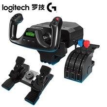Logitech sistema de jugo de vôo logitech g saitek pro simulador de vôo jugo sistema de acelerador sim para pc mac