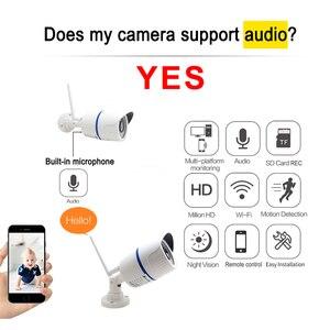 Image 4 - JIENUO 5MP Wifi kamera IP 1080P yüksek çözünürlüklü açık su geçirmez ses Cctv güvenlik gözetim kablosuz Onvif ev kamerası