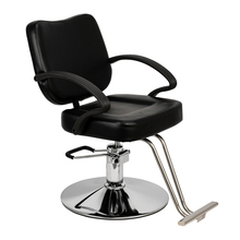 HC106 Adjustable  Woman Barber Chair Hairdressing Chair Black