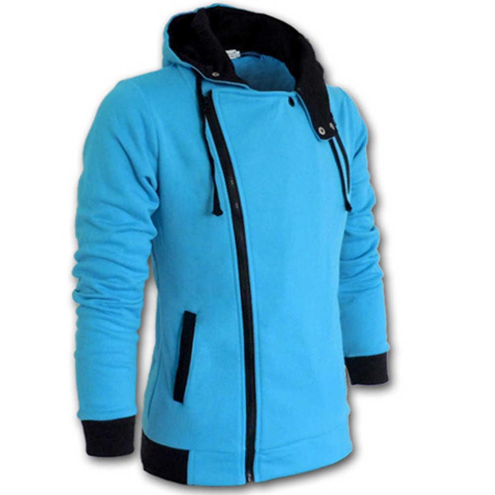 남성 플러스 사이즈 운동복 자켓 가을 캐주얼 양털 코트 솔리드 컬러 남성 운동복 스탠드 칼라 슬림 자켓