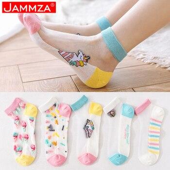 5Pairs/Lot Summer Socks Woman Cartoon Fruit Kawaii Cotton Silk Fashion gift for ladies Breathable free shipping
