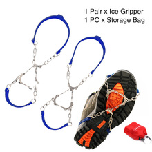 1 пара альпинистские скобы силиконовые походные уличные снежные 6 зубов зимние Нескользящие бутсы спортивные цепи ледяной захват обуви шипы