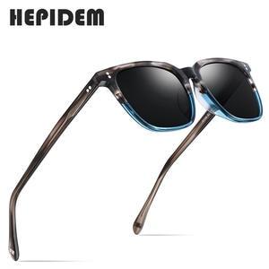 Sunglasses Men Acetate Polarized Designer High-Quality Goggles Square Vintage Women Fashion-Brand