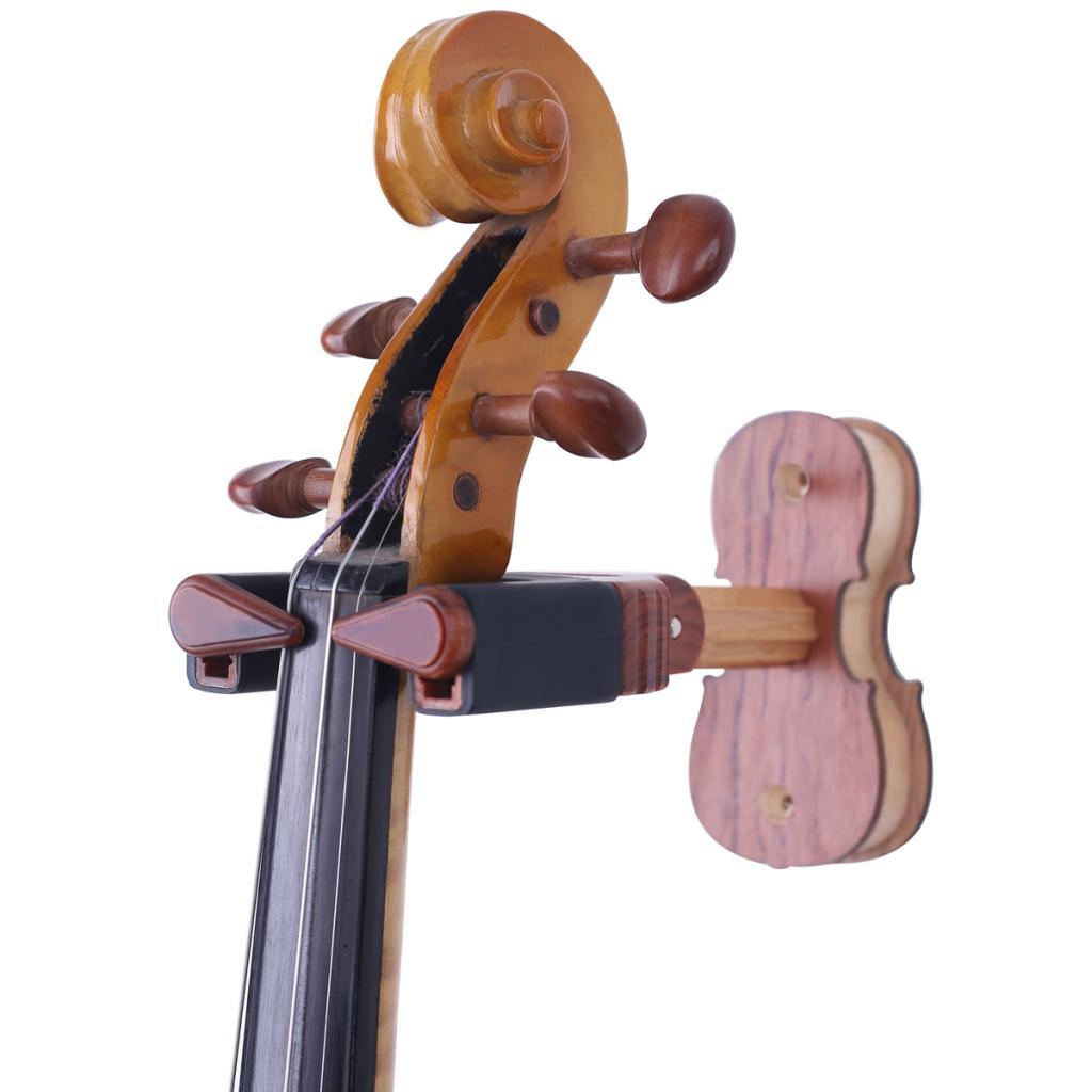 soporte de montaje de pared para gancho de percha de viol/ín de base madera Durable para fh-003/para Home Studio Soporte de pared fviolin