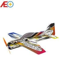 Nowa pianka EPP Micro 3D kryty samolot SAKURA najlżejszy samolot zestaw (niezmontowany) RC samolot MODEL RC HOBBY zabawka gorący bubel zdalnie sterowany samochód