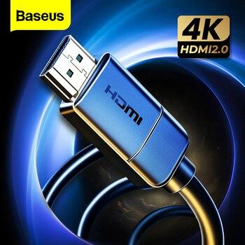 Baseus HDMI Cable 4K to HDMI 2.0 Video Cable For TV Monitor Digital Splitter PS4 Swith Box Projector Displayport HDMI Wire Cord wire world starlight 7 hdmi 12 0m