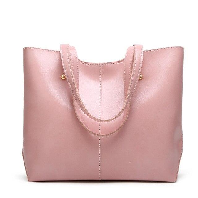 100% Genuine leather Women handbags  New Women's Korean version of big sweet fashion soft bag slung one shoulder 6