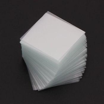 100 sztuk przezroczyste kwadratowe szklane slajdy Coverslips Coverslides dla mikroskopu urządzenie optyczne L4MF tanie i dobre opinie OOTDTY NONE CN (pochodzenie) 500X i Pod Monokularowy
