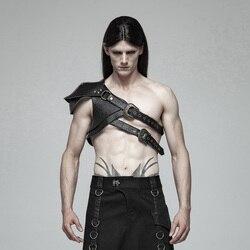 Панк рейв для мужчин стимпанк панцири толстый узор из искусственной кожи ретро сценические Мужские аксессуары