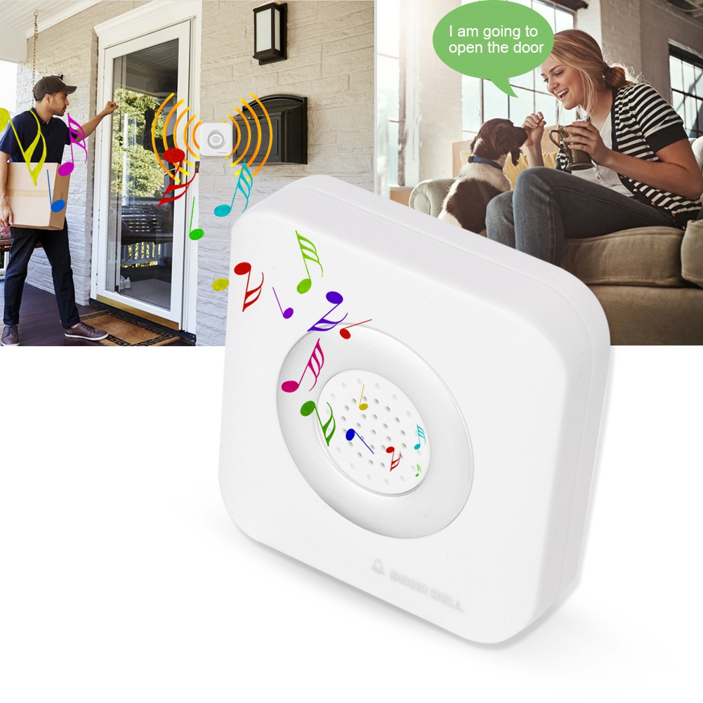 New Wall-Mounted Wired Doorbell With Loud And Soft Ringing Sound 4 Core Door Bell For Home Office Access Control System
