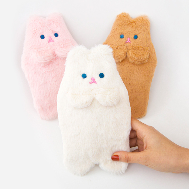 Bentoy Cartoon Plush Bag Kawaii Cat Pencil Case Girl Student Pencil Bag School Stationery Stroage Case