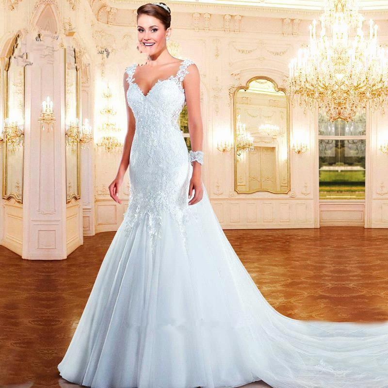 Sexy Sweetheart Mermaid Lace appliques 2018 Bridal Gown Vestido de noiva Casamento Off The Shoulder mother of the bride dresses