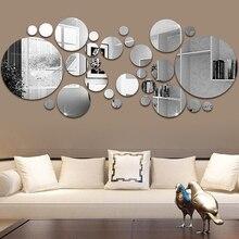 Bathroom Stickers Mirror Tv Background Home-Decoration-Mirror 26pcs Wall DIY