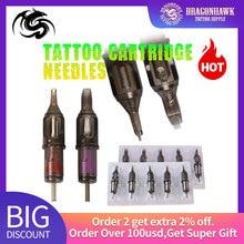 Горячая 10 шт одноразовый полуперманентный макияж татуировки картридж иглы RL татуировки пистолета поставки 1RL/3RL/5RL/7RL/9RL/11RL-0-10