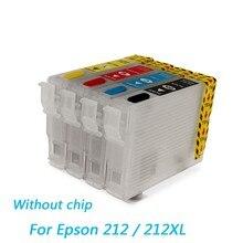 212 212XL wkład wielokrotnego napełniania do Epson Expression Home XP-4100 XP-4105 do Epson WorkForce WF-2830 WF-2850 drukarka bez chipa